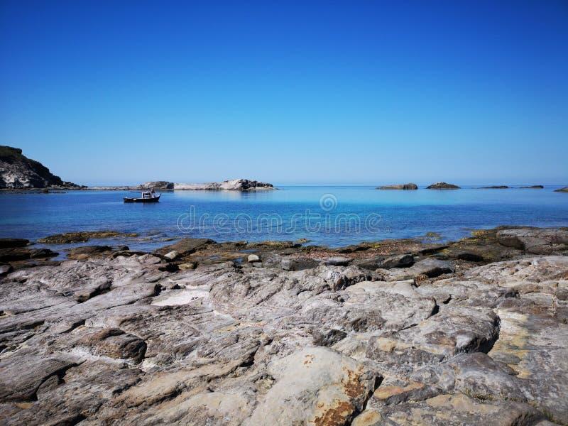 Playa del sapone de Cerdeña Cala en Sant& x27; Isla de Antioco fotos de archivo
