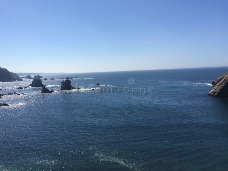 Playa del Silencio arkivbilder