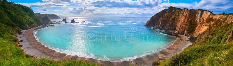 Playa Del Silencio w Cudillero Asturias Hiszpania obraz royalty free