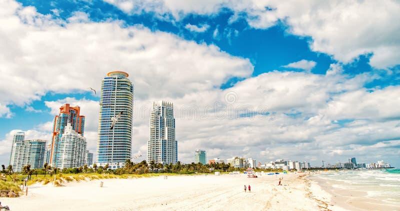 Playa del sur, Miami Beach florida foto de archivo libre de regalías
