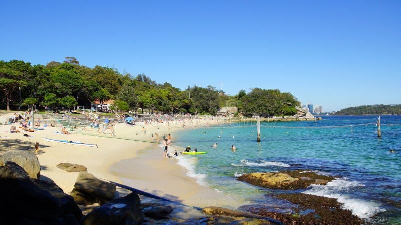Playa del tiburón, Nielsen Park, Vaucluse, Sydney, Australia imagenes de archivo