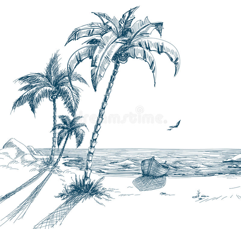 Playa del verano libre illustration