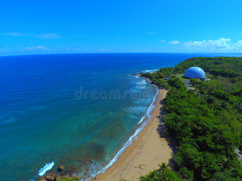 Playa Domes. Domes Beach Rincon Puerto Rico. Surfing royalty free stock images