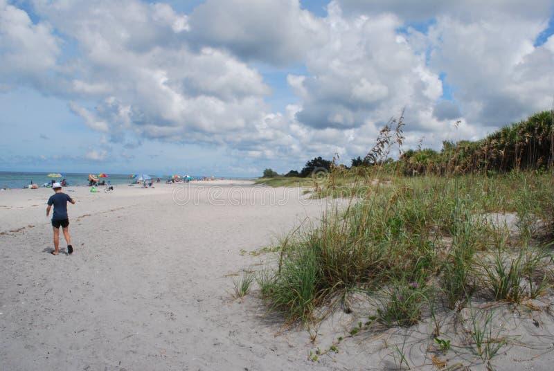 Playa dominante de la siesta en Sarasota la Florida fotos de archivo libres de regalías