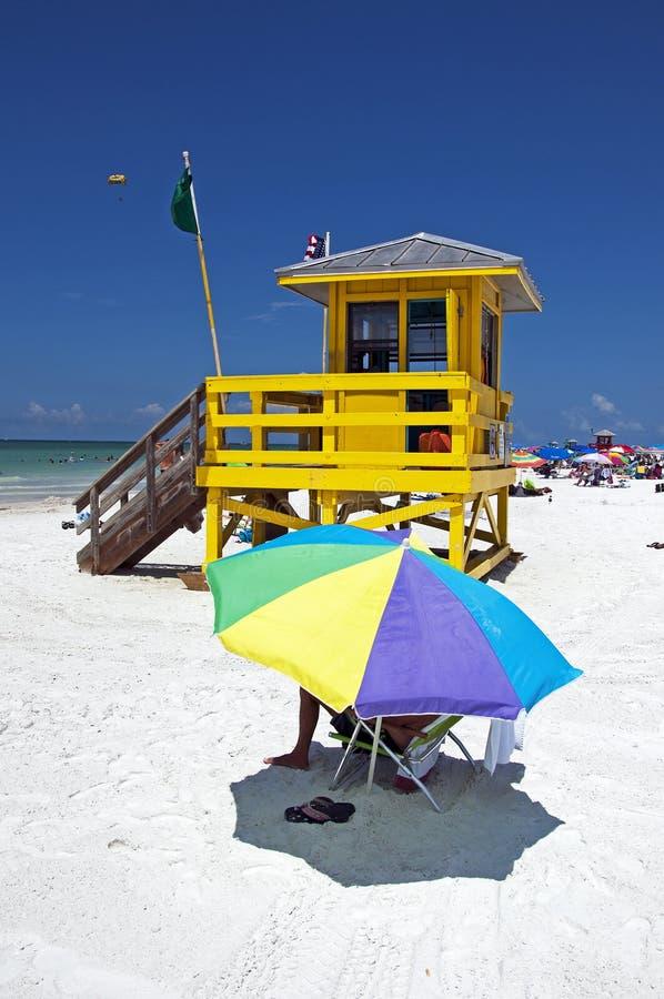 Playa dominante de la siesta, la Florida fotos de archivo libres de regalías