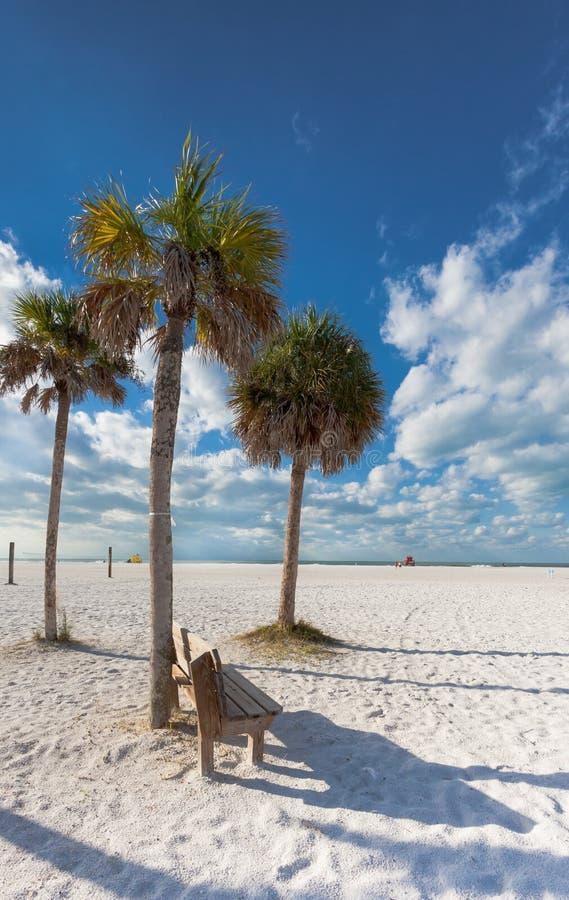Playa dominante de la siesta, la Florida imagen de archivo