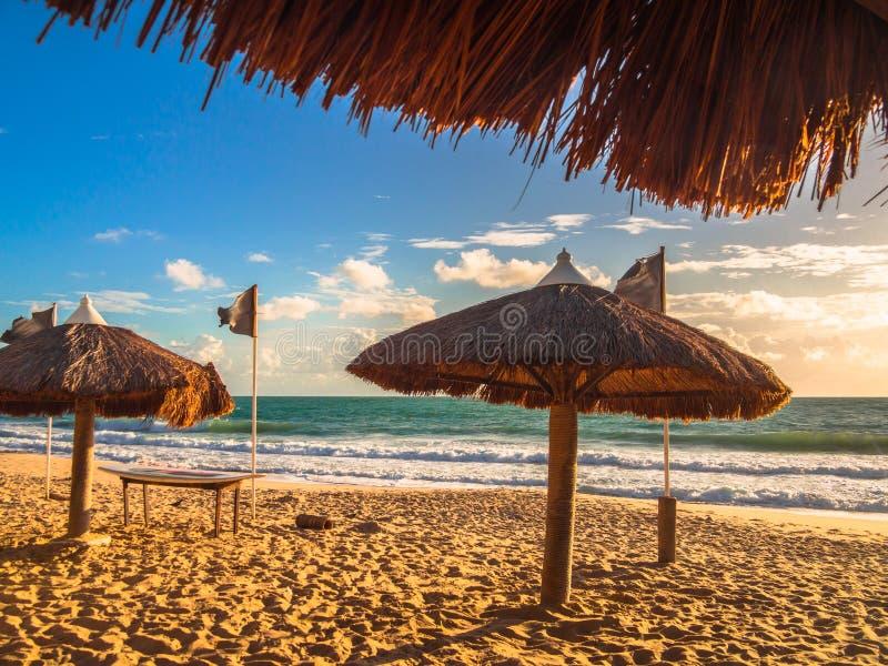 Playa el Brasil de la resaca foto de archivo libre de regalías