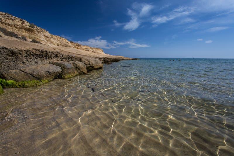 Playa el Playazo,西班牙 库存图片