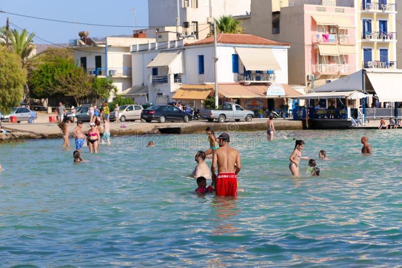 Playa en Atenas, Grecia imágenes de archivo libres de regalías