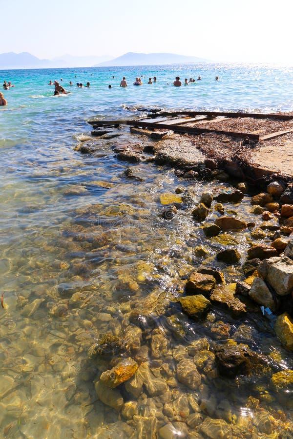 Playa en Atenas, Grecia foto de archivo libre de regalías