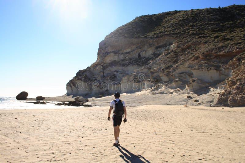 Playa en Cala de Enmedio imagen de archivo