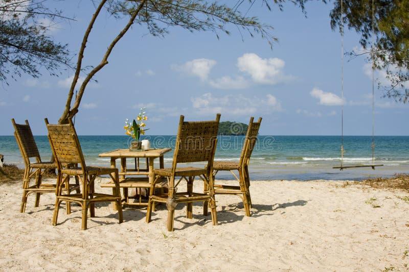 Playa en Camboya foto de archivo