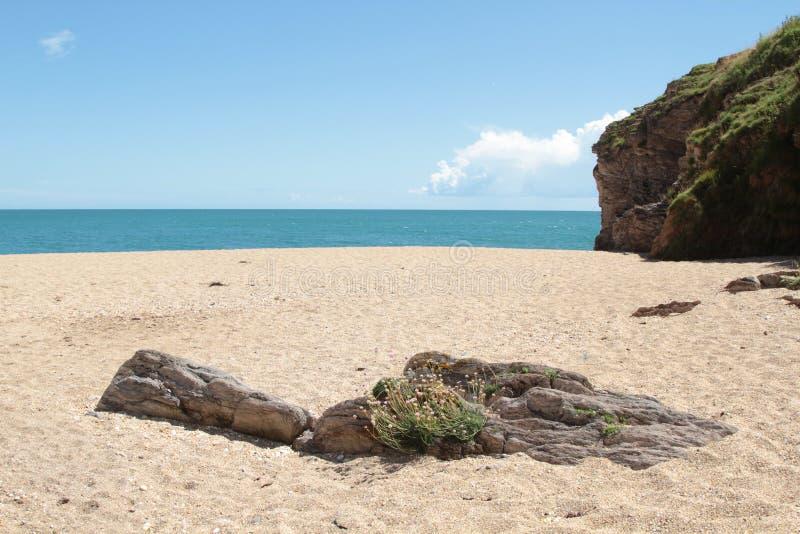 Playa en Devon foto de archivo