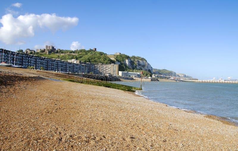Playa en Dover fotografía de archivo libre de regalías