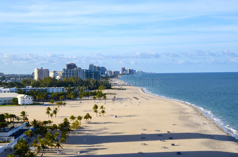 Playa en el Fort Lauderdale la Florida fotografía de archivo