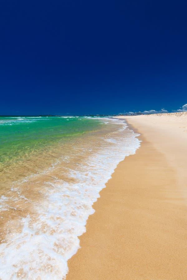 Playa en el lado oriental de la isla de Bribie, Australia fotos de archivo libres de regalías