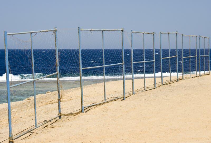 Playa en el Mar Rojo, Marsa Alam, Egipto imagenes de archivo