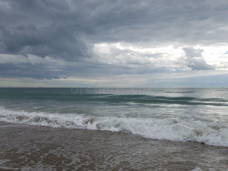 Playa en el Océano Atlántico en la playa atlántica, NC imagen de archivo libre de regalías