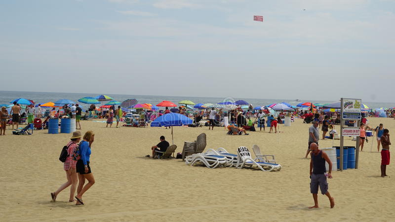 Playa en el parque de Asbury en New Jersey foto de archivo