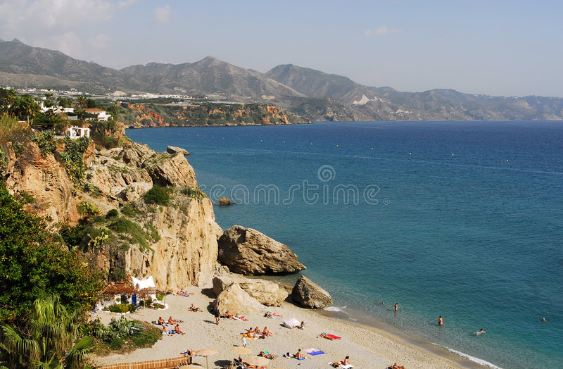 Playa en España imagen de archivo
