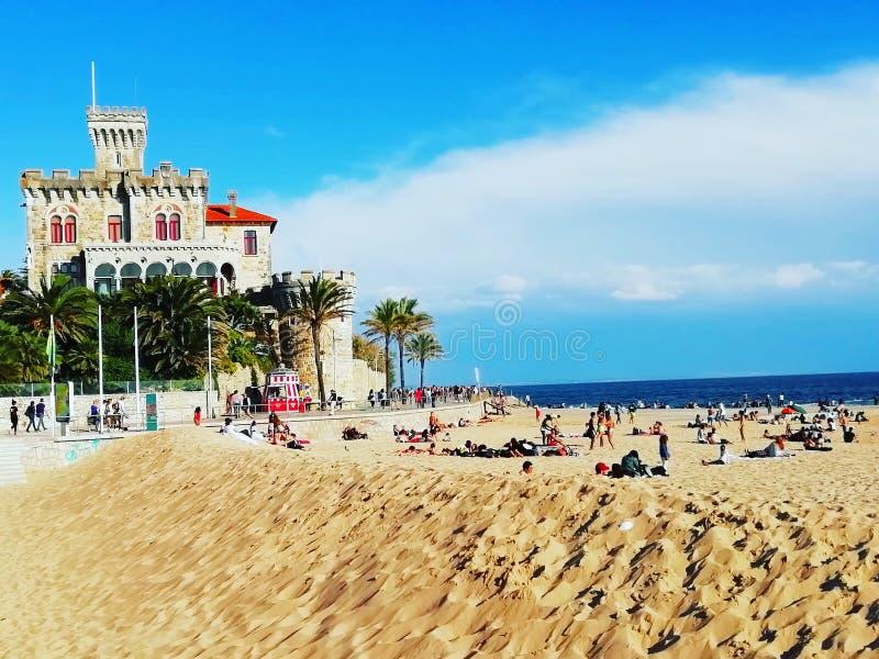 Playa en Estoril Portugal fotos de archivo libres de regalías