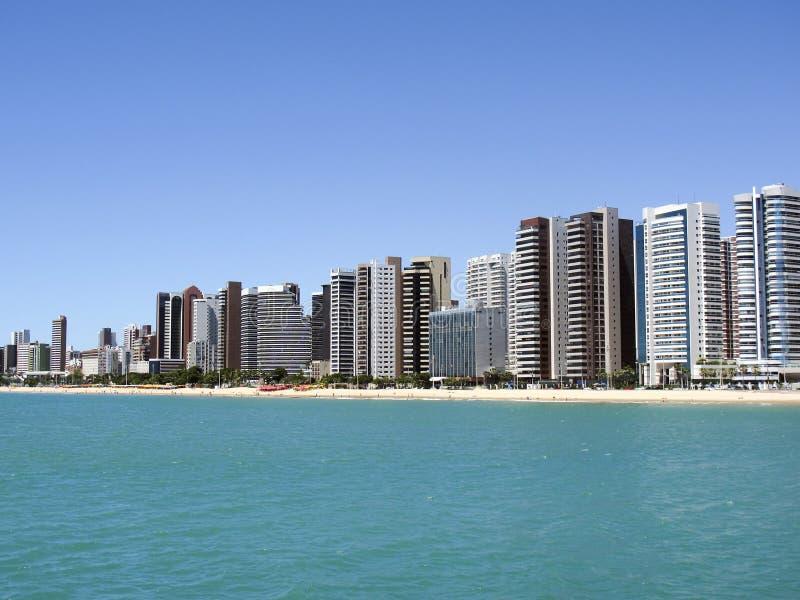 Playa en Fortaleza, Ceara, el Brasil foto de archivo libre de regalías