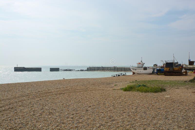 Playa en Hastings, Sussex, Inglaterra imágenes de archivo libres de regalías