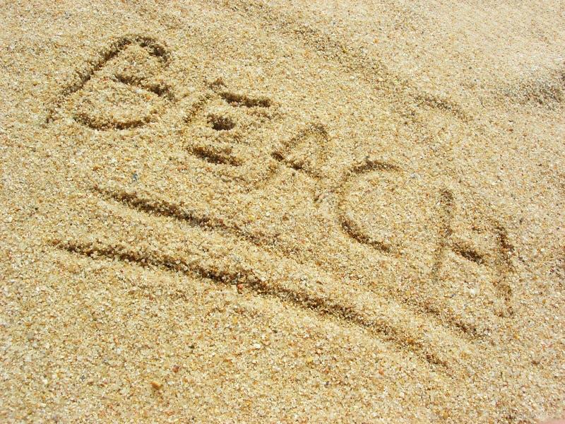 Playa en la arena fotos de archivo libres de regalías