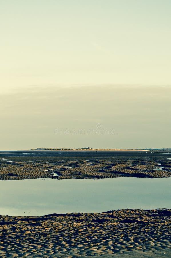 Playa en la costa de Norfolk foto de archivo
