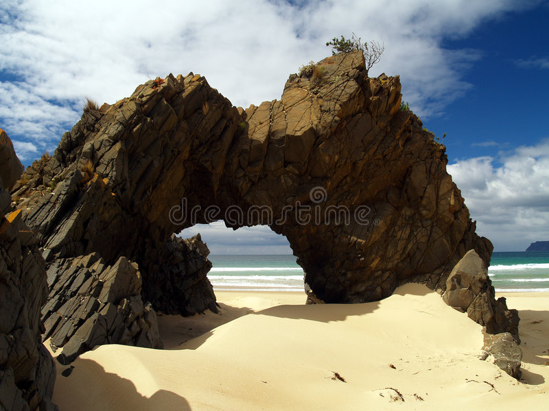 Playa en la isla bruny foto de archivo