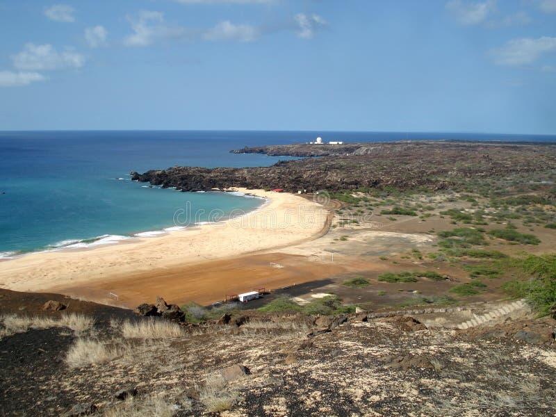 Playa en la isla de ascensión fotografía de archivo