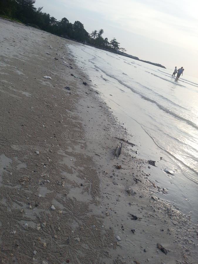 Playa en la isla de bangka foto de archivo