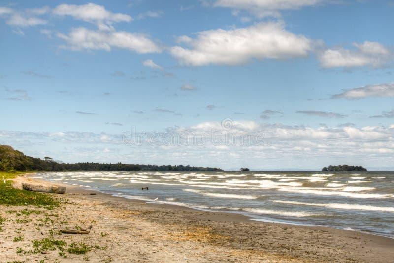 Playa en la isla de Ometepe en Nicaragua fotos de archivo libres de regalías