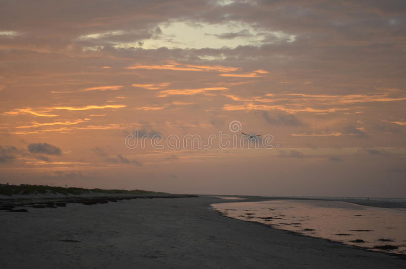 Playa en la isla de Sullivan foto de archivo libre de regalías