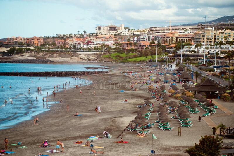 Playa en la isla de Tenerife foto de archivo