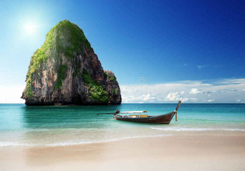 Playa en la provincia de Krabi imágenes de archivo libres de regalías