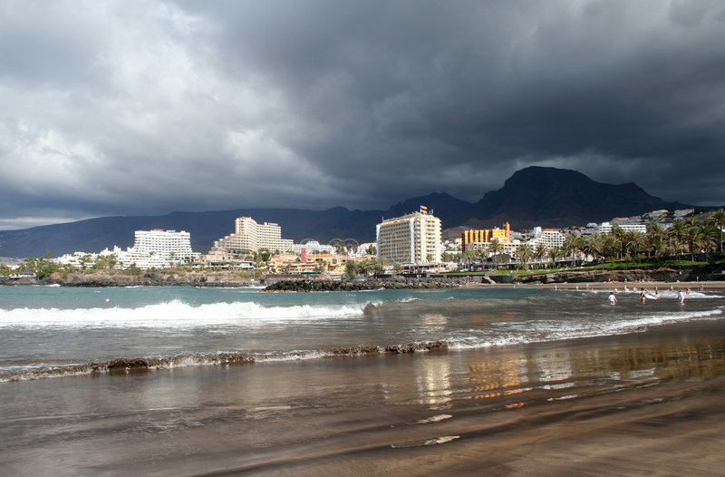 Playa en Los Christianos fotos de archivo libres de regalías