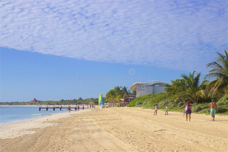 Playa en maya de Riviera, México imagenes de archivo