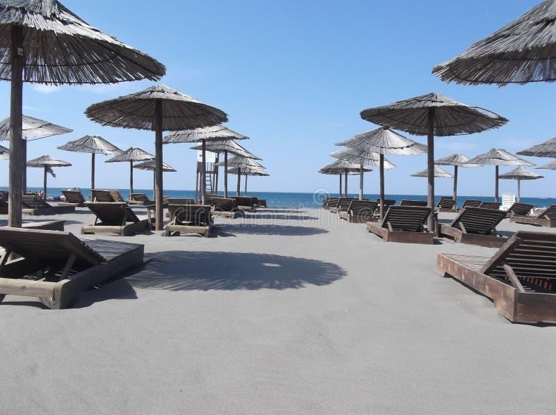 Playa en Montenegro 2013 fotografía de archivo