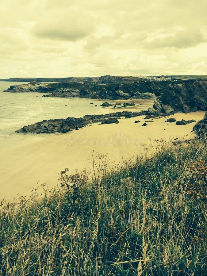 Playa en Newquay Cornualles fotos de archivo libres de regalías