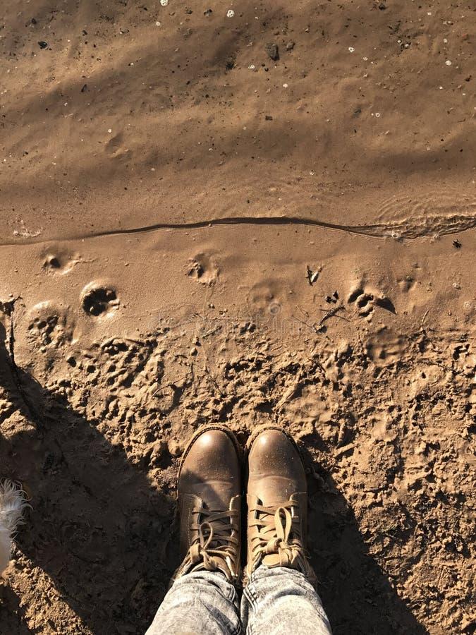 Playa en otoño imagen de archivo