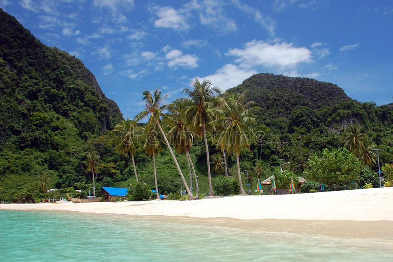 Playa en phi de la phi de Ko, Tailandia