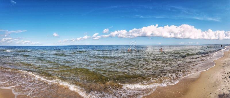 Playa en Polonia fotos de archivo