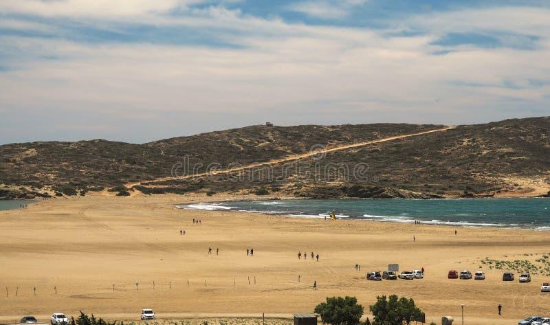 Playa en Prasonisi, Rodas, Grecia foto de archivo libre de regalías