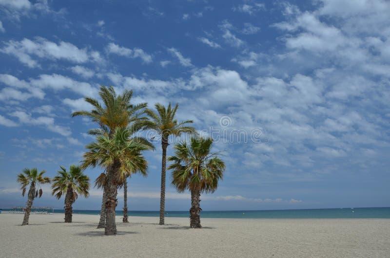 Playa en Roquetas de marcha foto de archivo