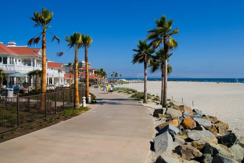 Playa en San Diego fotografía de archivo libre de regalías