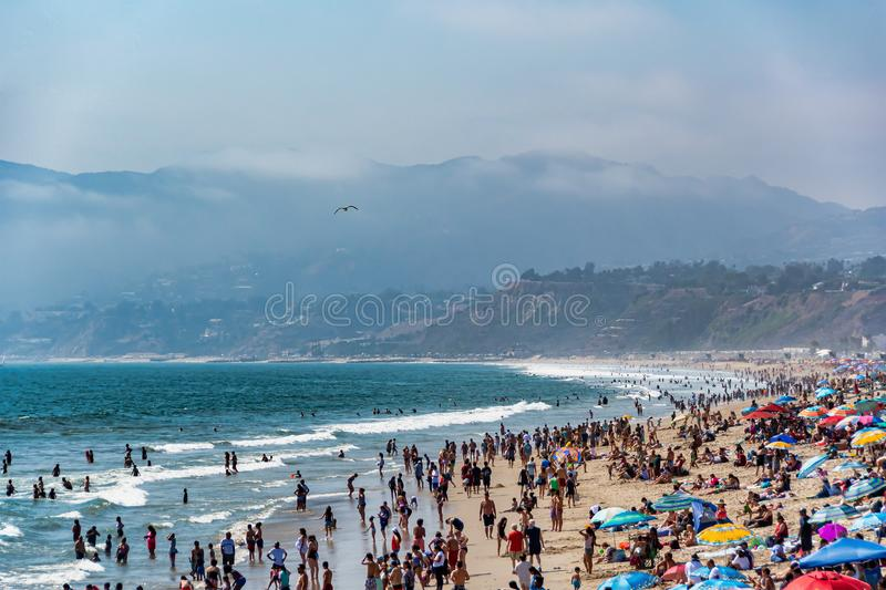 Playa en Santa Monica, California imagen de archivo