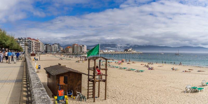 Playa en Sanxenxo, Galicia España fotografía de archivo