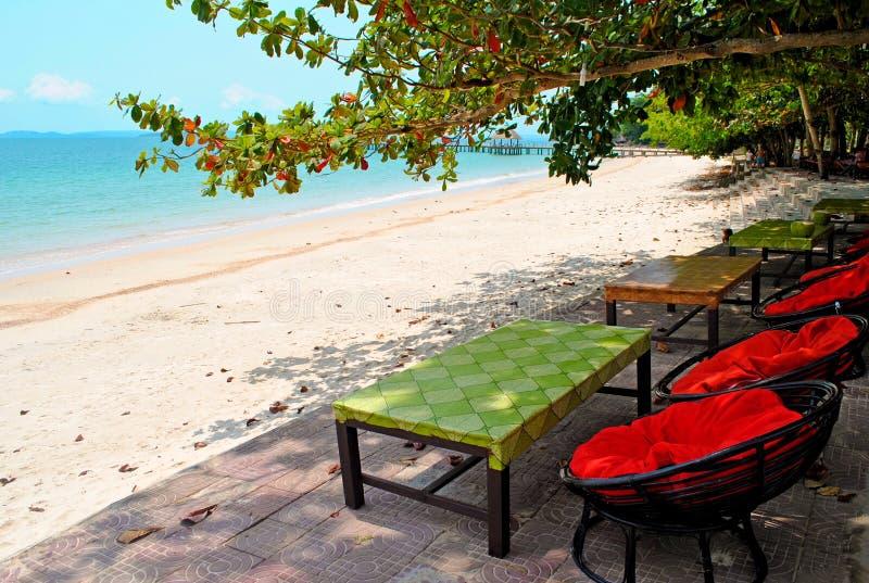 Playa en Sihanoukville, Camboya imagen de archivo libre de regalías