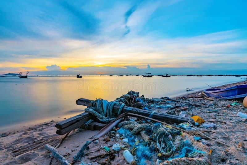 Playa en Siracha Tailandia foto de archivo